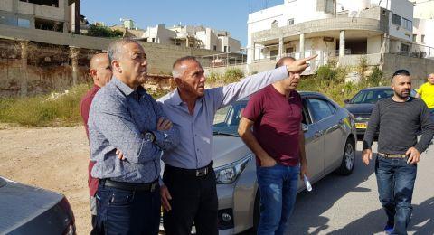 اكرم حسون ونائب الرئيس مهنا ابو شاح في جولة عمل لاحياء مدينة شفاعمرو!
