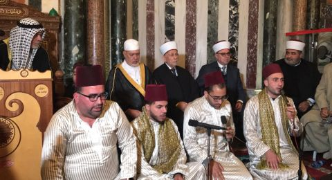 الاحتفال بذكرى الاسراء والمعراج في المسجد الاقصى