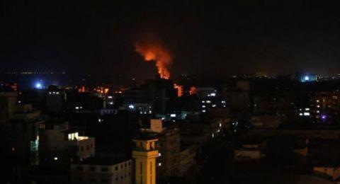 غزة:شهيد وجريح بغارات إسرائيلية