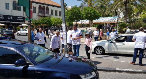 الناصرة: حزب الوفاء والإصلاح يوزع الهدايا على السائقين والمارة ضمن محاربة آفة العنف