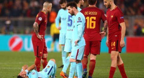 روما يقصى برشلونة من  دوري أبطال اوروبا وليفربول في النصف النهائي