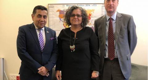 توما – سليمان في لقاء مع وزير بريطاني: على المجتمع الدولي أن يفتح عينيه
