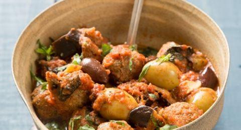 طبق اليوم من مجلس تربية الدواجن: كرات اللحم بالزيتون والباذنجان على الطريقة الايطالية