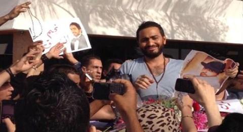 """جمهور تامر حسني: """"أهلاً بنجم الجيل في بلده الثاني المغرب"""""""
