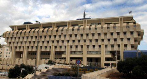 بنك اسرائيل يتوقع ارتفاع الفائدة المصرفية وتراجع البطالة