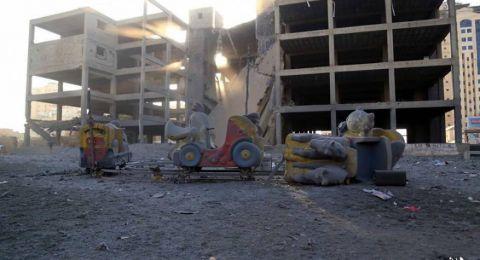 استشهاد طفلين جراء استهداف مبنى الكتيبة غرب غزة