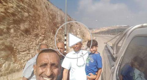 كريم جمهور في احضان والديه وفي طريقه لبيته