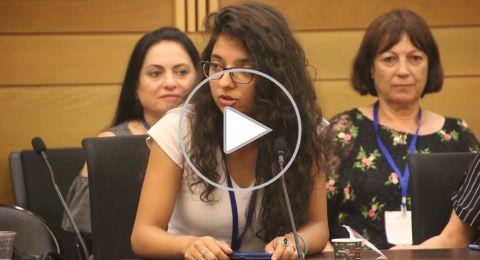 في يوم اللغة العربية بالكنيست .. محاضرة وطالبتها تتحدثان عن أهمية لغة الضاد