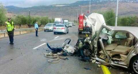 شعب: حادث طرقات بالغ و- 6 اصابات