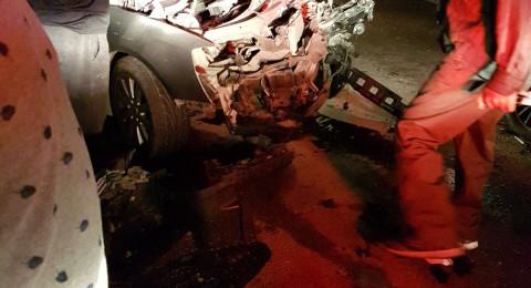 إصابات بحادث طرق بين باص وسيارة قرب عرابة