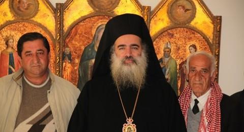المطران حنا يستقبل وفدا من ابناء الرعية الارثوذكسية في غزة