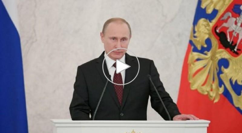 بوتين: لم نهدد الاستقرار العالمي بسعينا للتسوية في سورية.. ويجب ضمان حقوق إيران وأمن اسرائيل في آن واحد