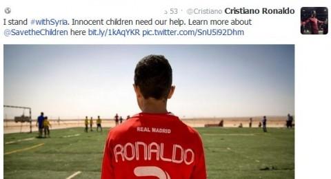 كرستاينو رونالدو يساند اطفال سوريا
