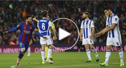 ميسي ينقذ برشلونة من فخ سوسيداد