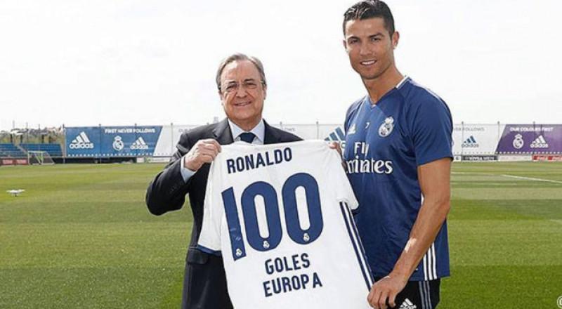 ريال مدريد يحتفي برقم كريستيانو رونالدو التاريخي