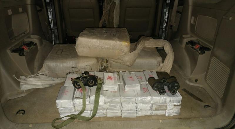 ضبط 100 كلغم من الحشيش على الحدود المصرية- الاسرائيلية