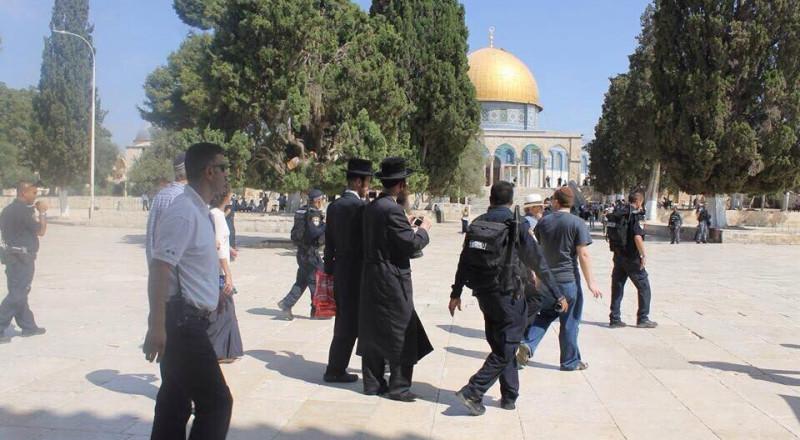 عشرات المستوطنين وطلاب يهود يقتحمون الأقصى