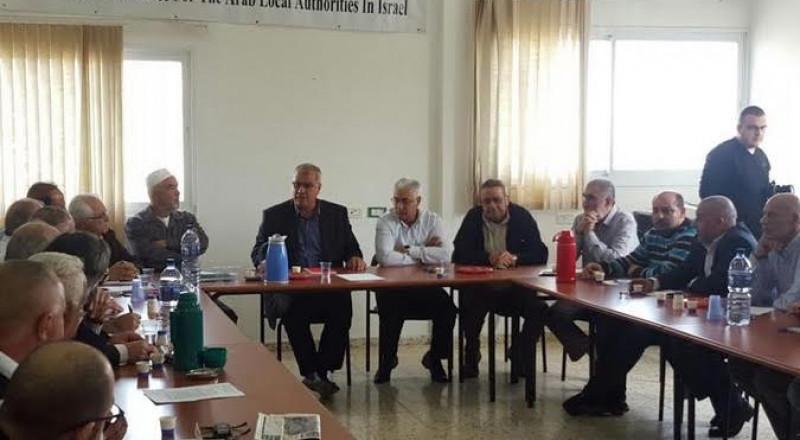 لجنة التوجيه تقر سلسلة من النشاطات الكفاحية لصد محاولات السلطة للاستيلاء على الأراضي