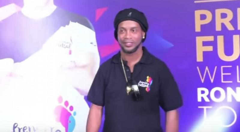 استقبال حافل لرونالدينيو في الهند