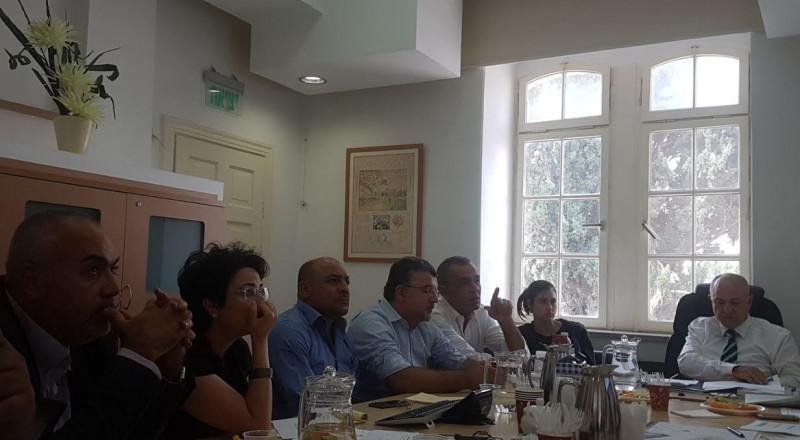 لجنة التربية والتعليم في المشتركة تعقد جلسة عمل مع مدير عام وزارة المعارف شموئيل أبوآف وطاقم مكتبه