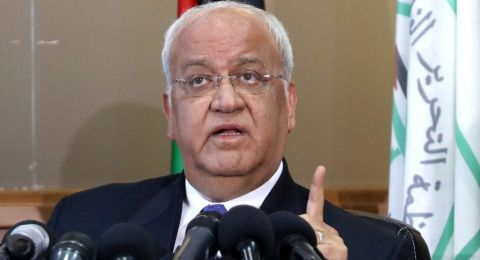 عريقات في مؤتمر صحفي: دولة فلسطين قدمت بلاغا للجنائية الدولية حول الخان الأحمر شرق القدس