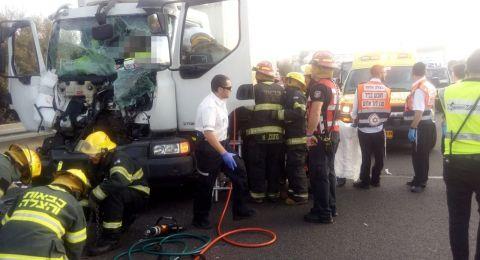 إصابتان بحادث طرق مروع على شارع 6 قرب كفر قاسم
