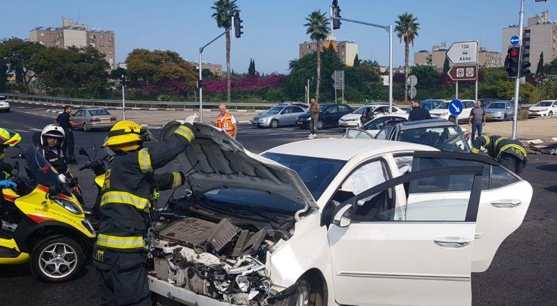 حادث طرق يسفر عن اصابة 4 أشخاص بالقرب من عكا