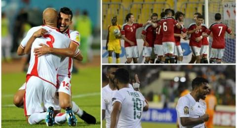 انتصاران لمصر وتونس وتعادل محبط للجزائر في تصفيات المونديال