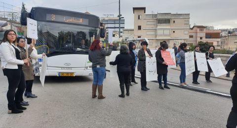 الناصرة: ناشطات يغلقن الشارع الرئيسي احتجاجًا على قتل النساء