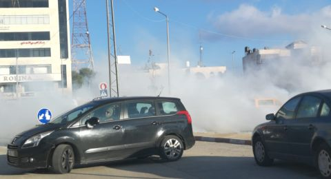 اصابات بمواجهات وسط مدينة رام الله