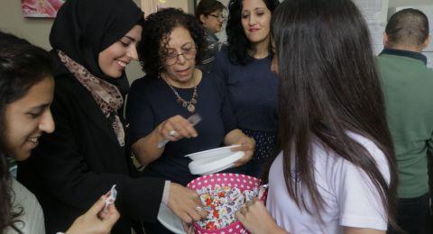 ثانويّة الكرمة العلميّة في حيفا تحتفل بيوم المعلّم ولجنة أولياء أمور الطّلّاب تقيم إفطارًا للهيئة التّدريسيّة