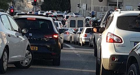الناصرة: تذمر من قبل السائقين بسبب حركة السير