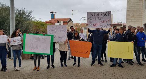 وقفة احتجاجية لمقتل المرحومة إيمان عوض في مدرسة أورط على أسم حلمي الشافعي عكا