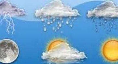 حالة الطقس:أمطار متفرقة مساء الأربعاء