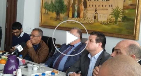 لأول مرة .. وفد القائمة المشتركة وعلى رأسه أيمن عودة يزور بلدية الناصرة