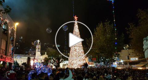 الناصرة تضيء شجرة الميلاد بحفل مميز