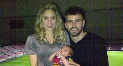 بيكيه ،شاكيرا والمولود ميلان يحتفلون بالفوز