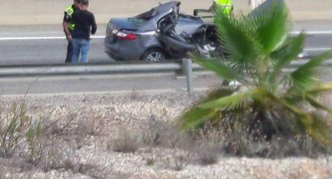 اصابة خطرة في حادث طرق بالقرب من مفترق