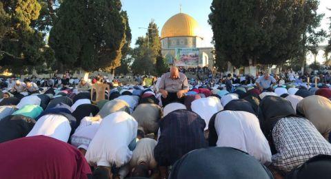 أكثر من 90 ألفًا يؤدون صلاة العيد بالأقصى، ووقفة دعم لغزة بعد الصلاة