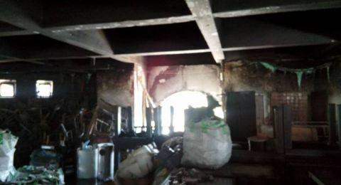 إنقاذ 100 شخص من حريق نشب في احد مطاعم بيت لحم