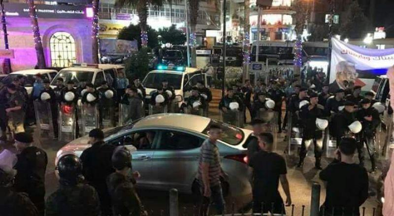 أمن السلطة يقمع وقفتين تضامنيتين مع غزة في رام الله ونابلس