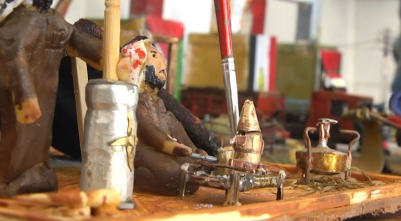 فنان من غزة يحول رصاصا إسرائيليا إلى تحف فنية