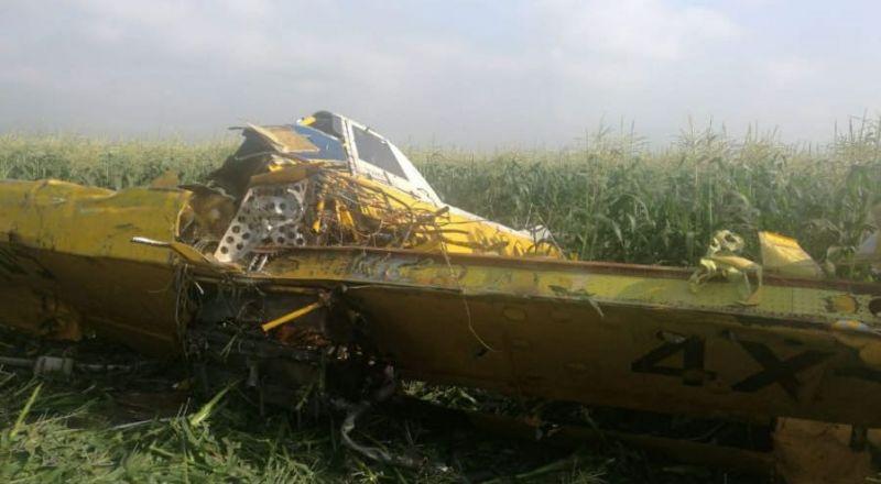 اصابة متوسطة لطيّار جراء تحطم طيّارة رّش