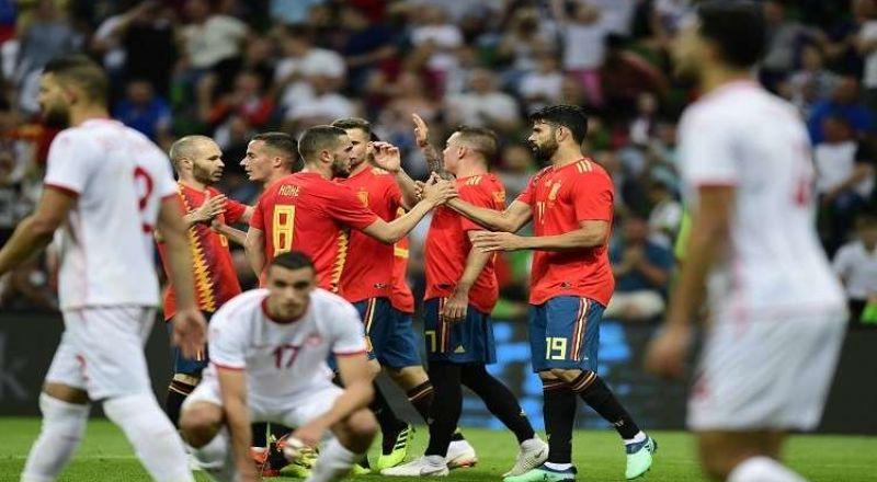 تونس تنهي استعداداتها للمونديال بخسارة مشرفة أمام إسبانيا