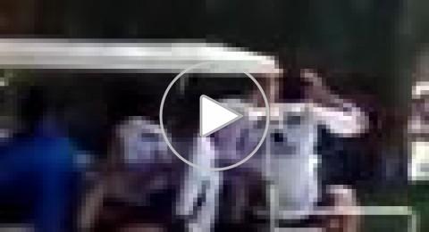 شاهد:سيارة لاعبي الريال تصدم فتاة
