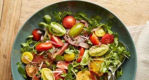 طريقة عمل سلطة الجرجير والطماطم