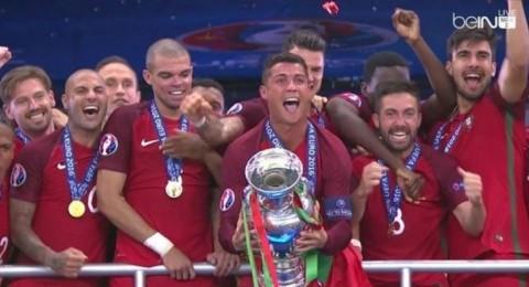 البرتغال تتوج بلقب كأس أوروبا لكرة القدم