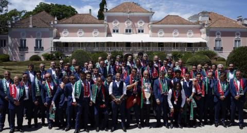 استقبال أسطوري للمنتخب البرتغالي في لشبونة