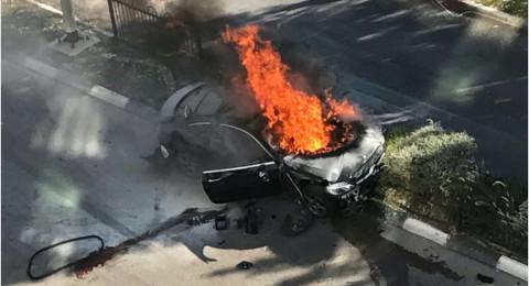 إنفجار سيارة وإصابة بالغة لمواطن بالشارع الرئيسي في نيشر قرب حيفا