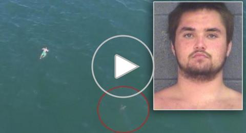 قفز في المحيط هرباً من الشرطة فوجد ما لم يتوقعه